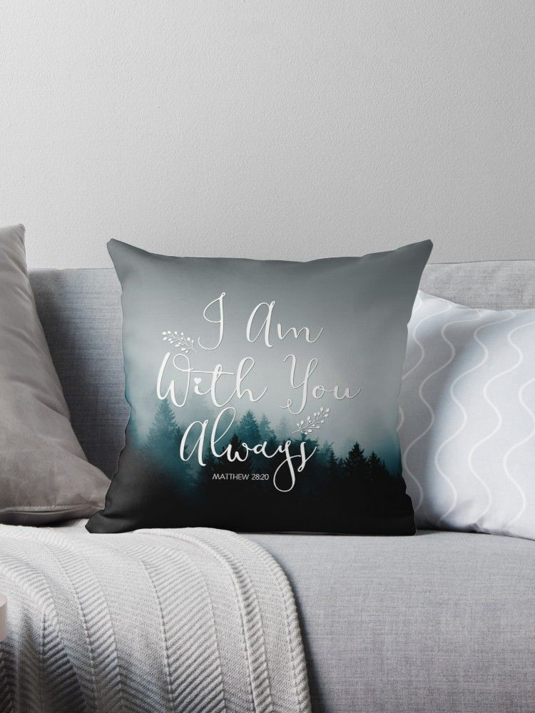 Christian Quote Throw Pillows And Gifts Design By Christianstore Christian Throw Pillows Throw Pillows Christian Quotes