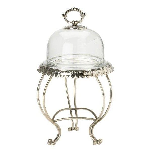 prachtvolle dreibeinige kuchenplatte mit glasglocke von lisbeth dahl sofort versandfertig. Black Bedroom Furniture Sets. Home Design Ideas