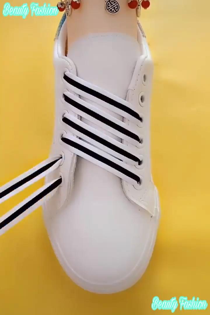 corte largo Macadán Feudal  Como poner cordones lindos | Cordones de zapatillas, Cordones para zapatos,  Agujetas de zapatos