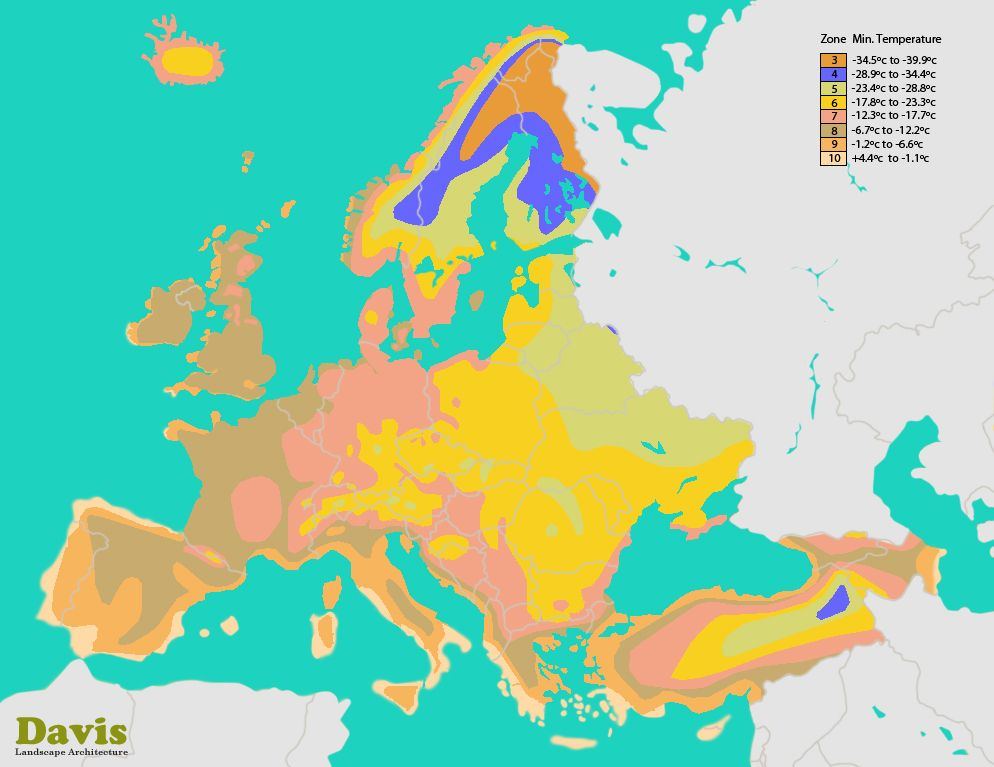 Macedonia Interactive Plant Hardiness Zone Map Climate Zone Map - Sweden climate zone map