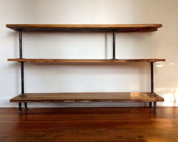 Reclaimed WoodSteel Pipe Bookshelf Manuel Schneider Schneider - Pipe bookshelves
