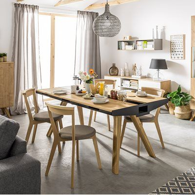 Vox Nature Oak Dining Table With Drawers Built In Trivet