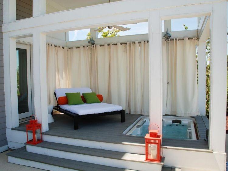 einfach dicke vorh nge ziehen und der sichtschutz ist besorgt garten pinterest. Black Bedroom Furniture Sets. Home Design Ideas