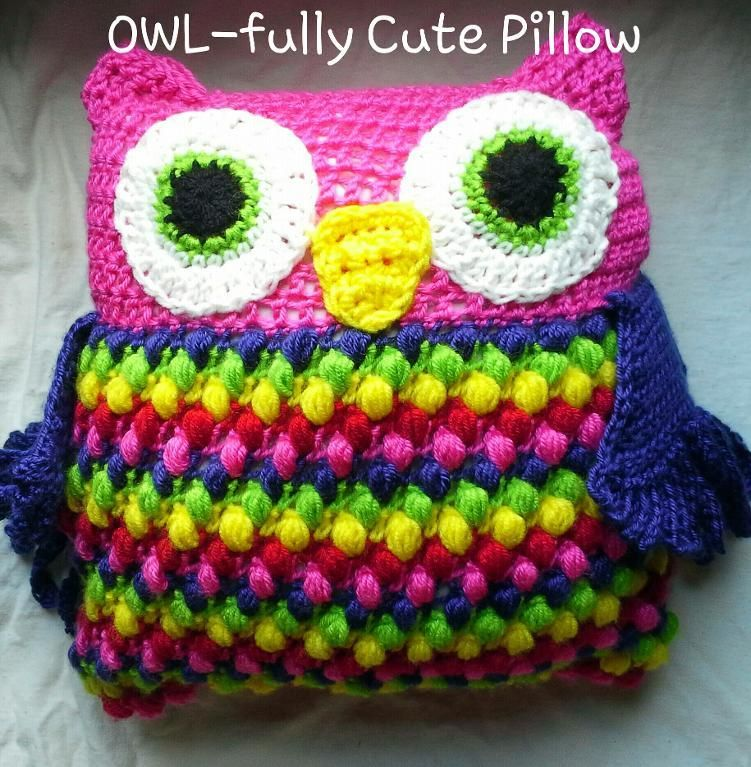 Free Crochet Owl Pillow Pattern Fluffy Products Pinterest