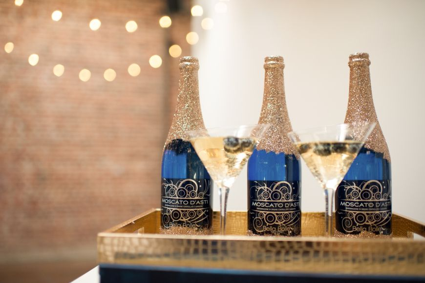 Yum! Moscato d'Asti. Photo by Blue Rose Photography. www.wedsociety.com #wedding #inspiration #artdeco #drinks