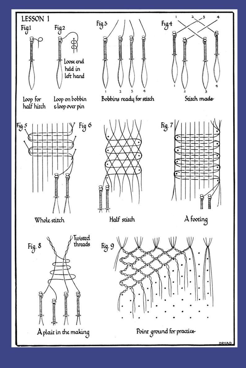 Practical Lace Making Bucks Point Ground C 1928 Pdf Ebook Etsy In 2020 Bobbin Lace Patterns Bobbin Lace Bobbin Lacemaking