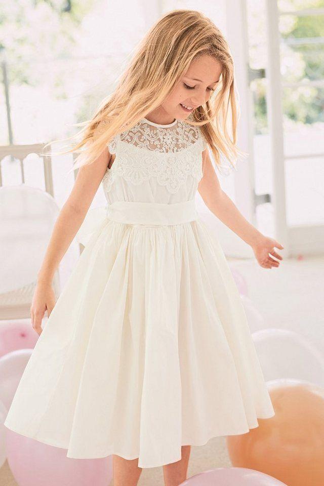 Next Kleid mit Spitzenoberteil, Aus modernen Fasern online ...