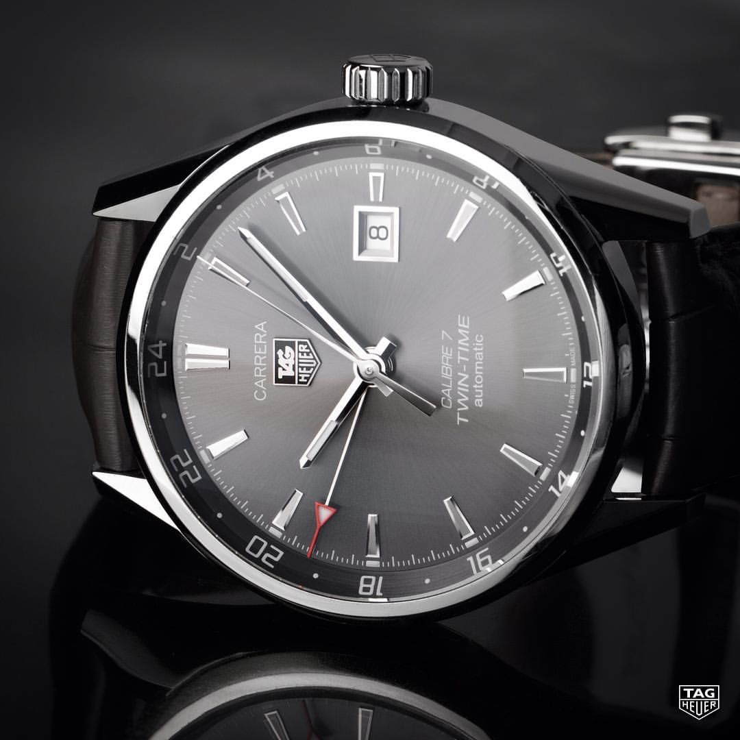 The TAG Heuer Carrera Calibre 7 Twin Time Automatic ...