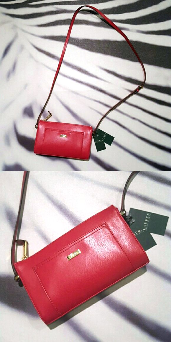 58020012a15f #180: $95 - Ralph Lauren Lowell Crossbody Red Purse – (Orig. $128) – Brand  new with tags. 8.5