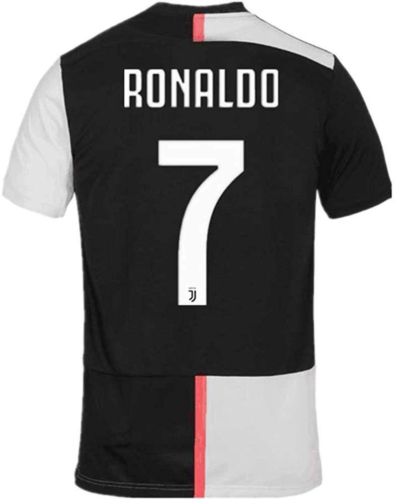 Feeke 7 Ronaldo Men Shirt 2019 2020 Season Juventus Cristiano Ronaldo Home Soccer T Shirt Black White Magliette Juventus Disegni Magliette