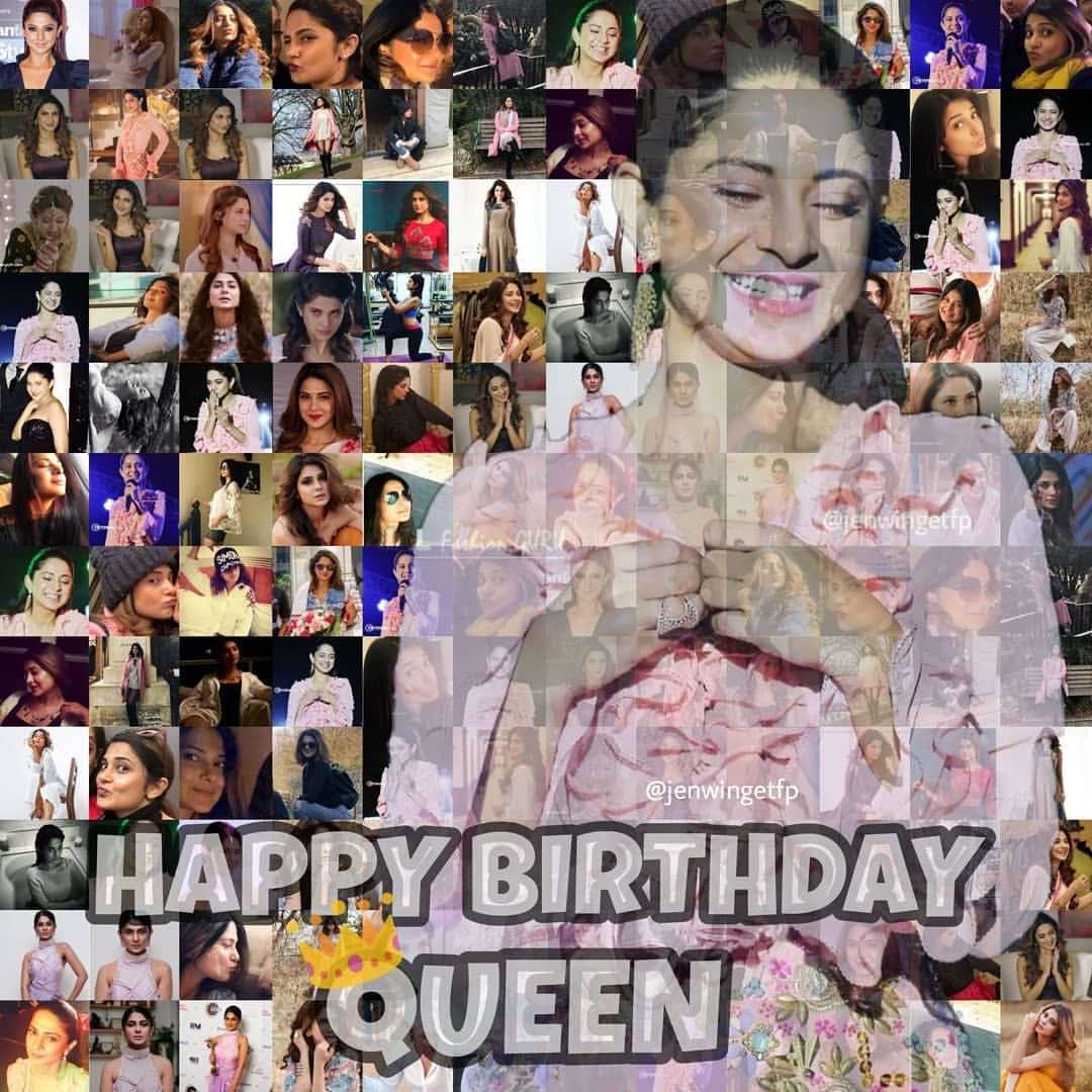 Happiest Birthday Queen Wishing You A Day Filled With Happiness And A Year Filled With Joy Sending You Jennifer Winget Jennifer Winget Beyhadh Jennifer