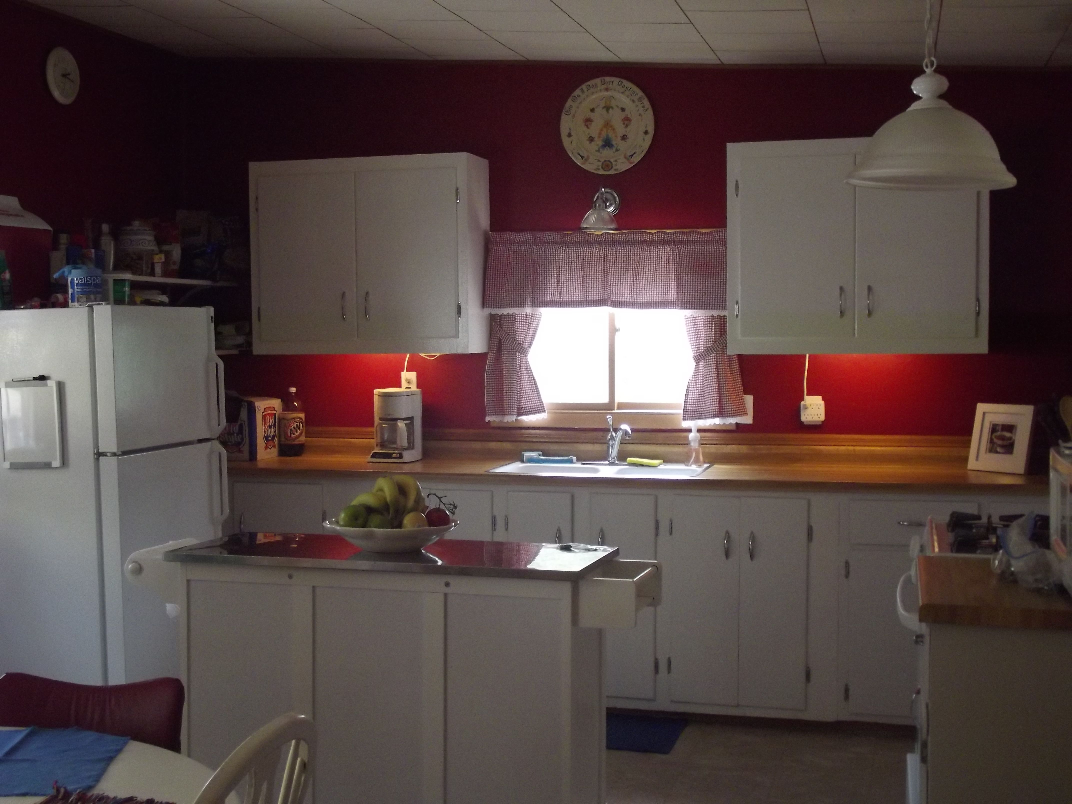 Here is how we finished off the small kitchen. Rob made ...