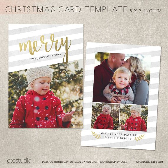 Photos Sided Design Graphic Design Inspiration Pinterest - Christmas card templates for photographers 2