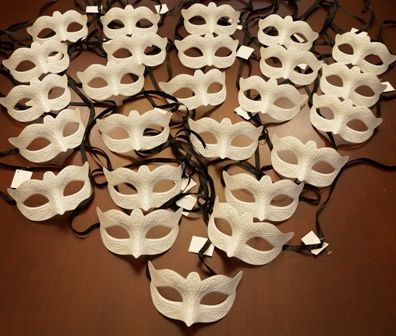 Plain Masks To Decorate Enchanting Venetian Masks Unpainted Party Pack  Gala 2015  Pinterest Decorating Inspiration