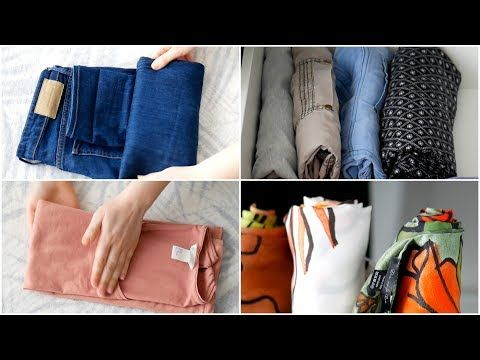 Kleidung falten nach Konmari   Effektives & platzsparendes Aufbewahren von Oberteilen & Hosen