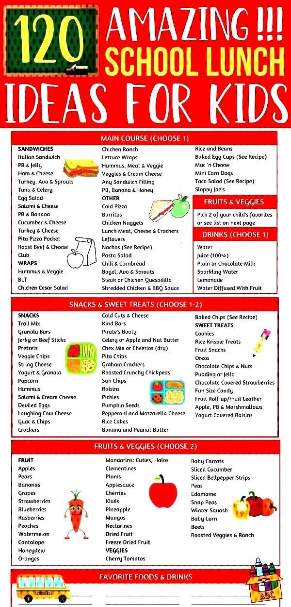120 Easy Kid Friendly Lunch Ideas For School Easy school lunch ideas for kids! So many back to scho