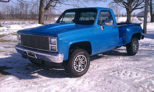 Light Blue 1985 Chevy Truck | 1985 Chevy 3/4 ton 4x4 RARE