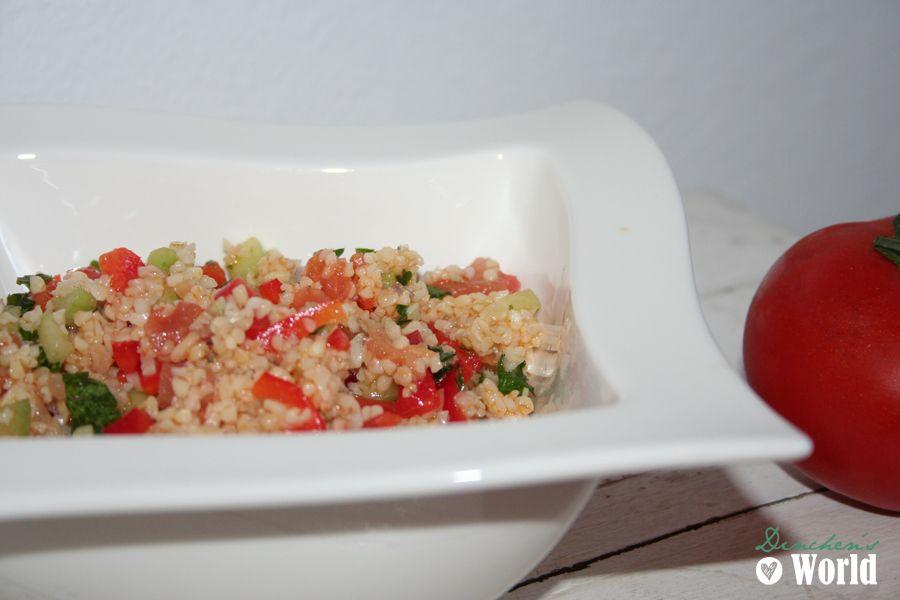 Sommersalat mit Bulgur und Tomate by dinchensworld.wordpress.com