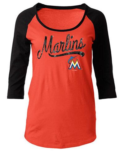 32.00$  Buy now - http://vixzo.justgood.pw/vig/item.php?t=dkd05n16871 - Women's Miami Marlins Sequin Raglan T-Shirt 32.00$