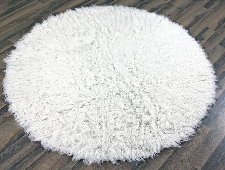 Round White Fluffy Rug My Bedroom ️ Pinterest White