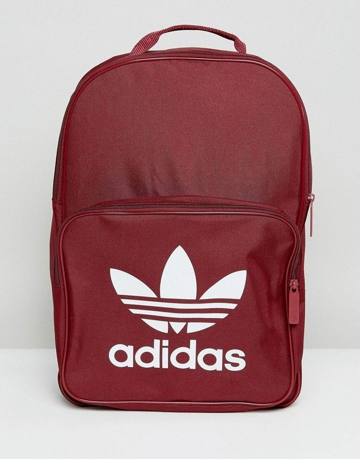 Adidas Originals Classic Backpack With Trefoil Logo In Burgundy ... 7c32453cd7210