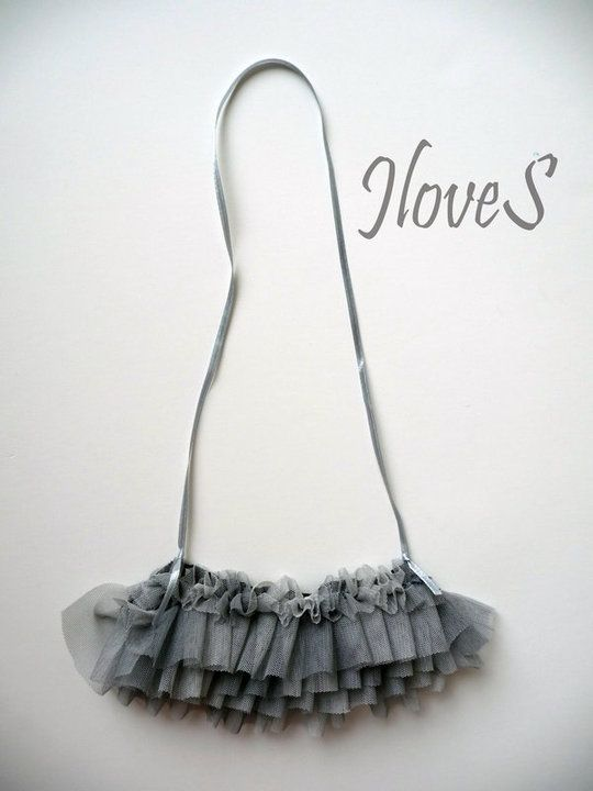 tulle necklace