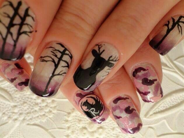 Pin By Mary Bonner On My Style Country Girl Nails Deer Nails Camo Nails