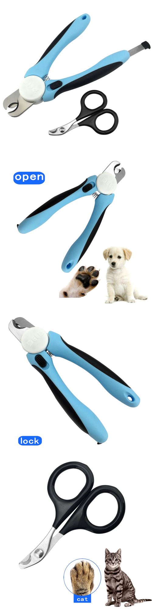 Claw Care Dog Nail Clippers Free Nail File Included Razor