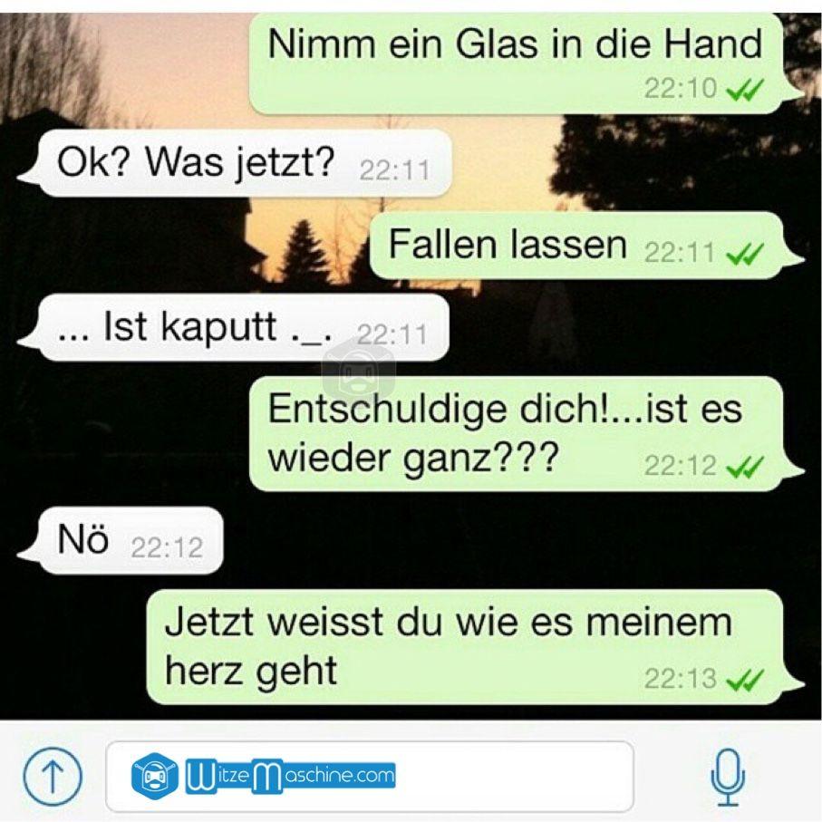 Lustige WhatsApp Bilder Und Chat Fails 85   Zerbrochenes Herz
