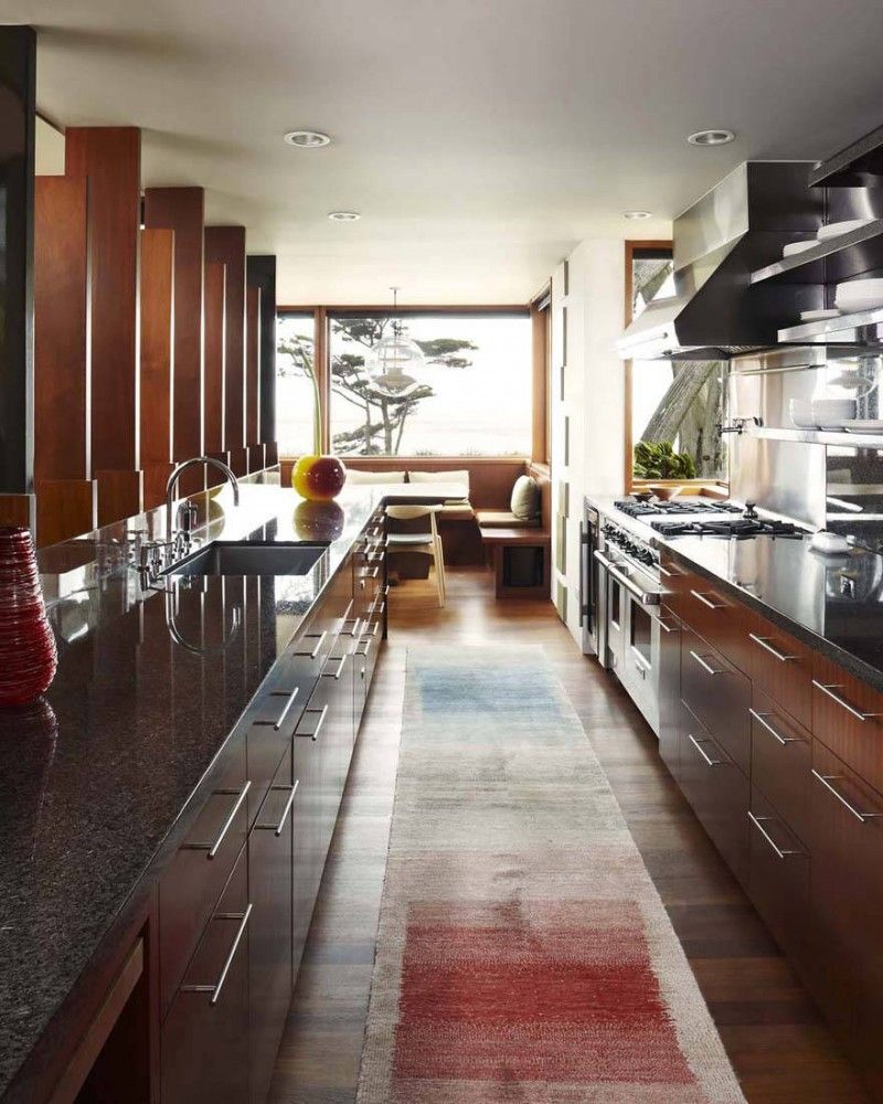 Small Galley Kitchen Floor Plans: Carmel Residence / Dirk Denison Architects