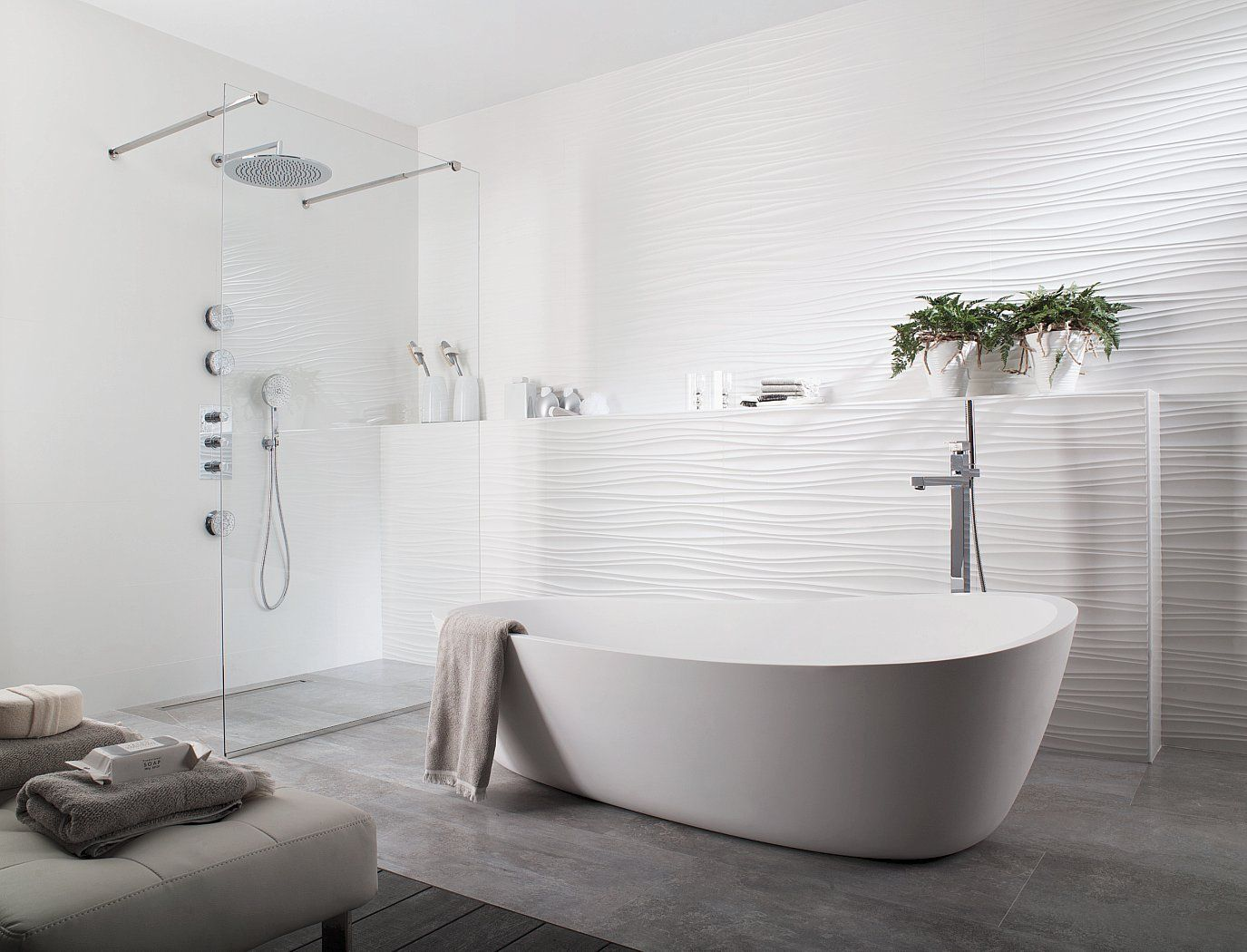Ceramo Tiles Perth Aims To Offer The Perth Tile Buying Community A Refreshing And Innovative Modern Bathroom Tile White Bathroom Designs Modern White Bathroom