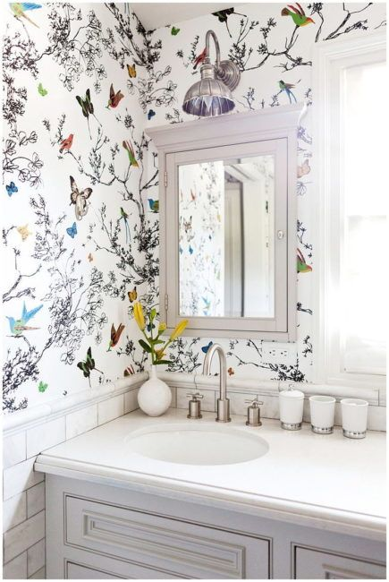 The Basics Of Bathroom Wallpapers 10 Best