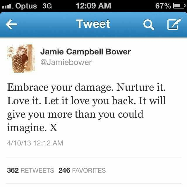 Jamie Campbell Bower Quote