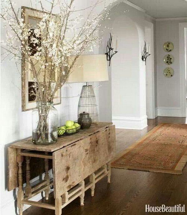 Rustic Chic Entryway With Refined Decor Style Joanna