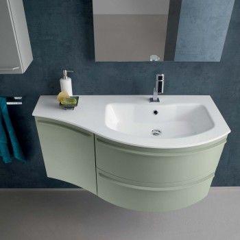 N12 Atlantic Wall Mounted Curved Bathroom Vanity Cm 106 Bathroom Vanity Small Bathroom Bathroom Vanity Tops