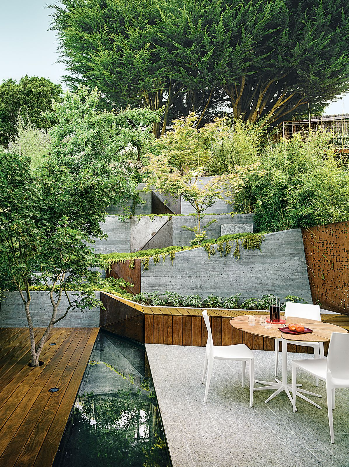 Photo 1 Of 4 In An Architect Sculpts Out A Tadao Ando Inspired Modern Landscaping Modern Landscape Design Backyard Landscaping Designs