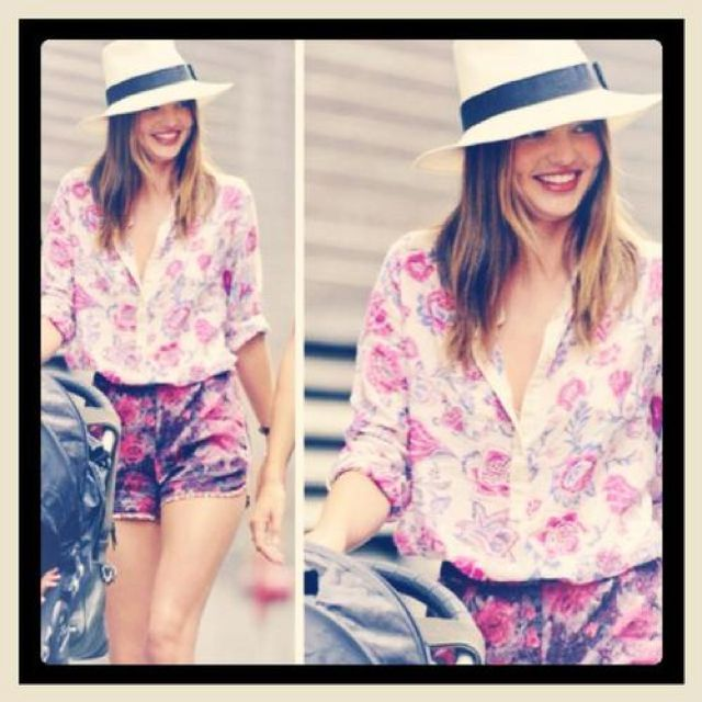 #fashion Miranda Kerr floral mood