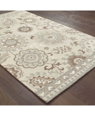 Oriental Weavers Craft 93005 Ivory Gray 5 X 8 Area Rug Area