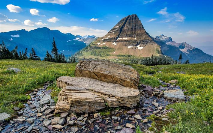 Lataa kuva Mountain maisema, illalla, kiviä, vuoret, Alpeilla, Sveitsi