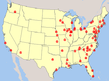 List of nuclear plants in USA | Pollution: Nuclear Energy | Nuclear ...