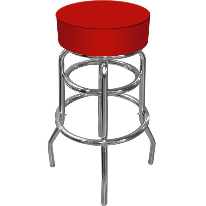 high grade red padded shop stool car guy garage shop