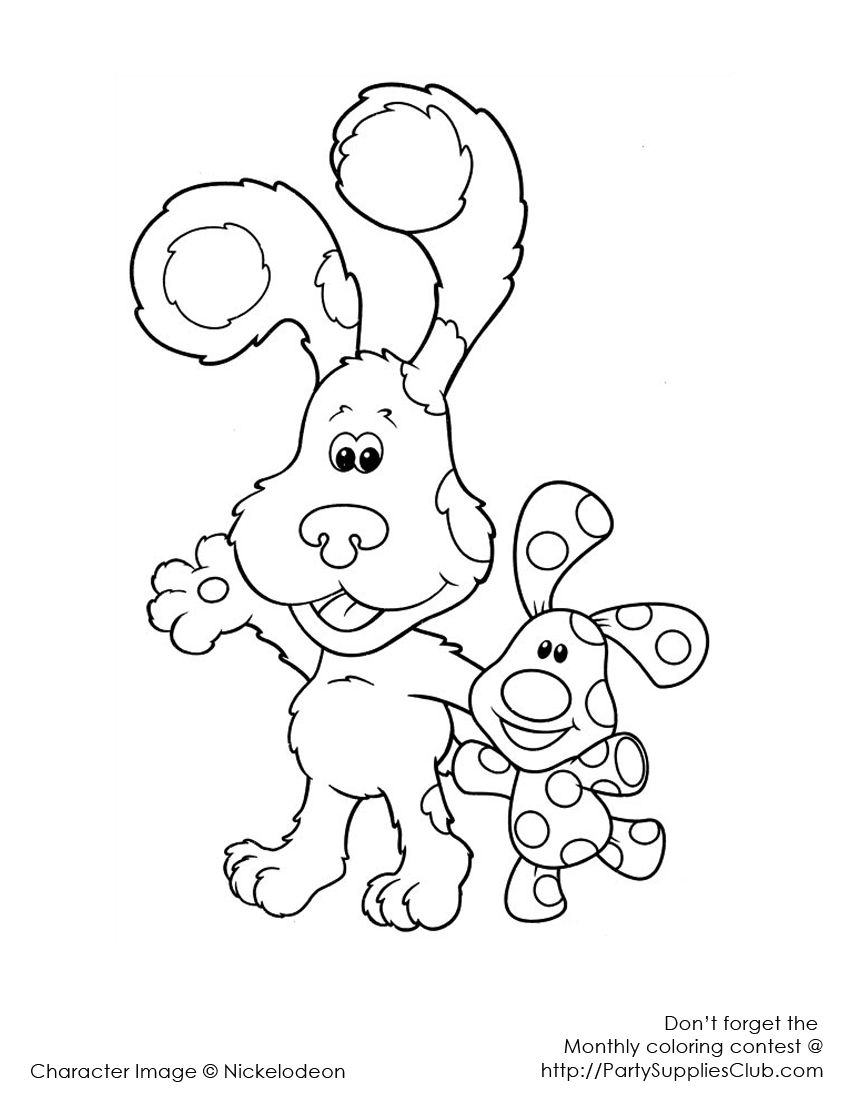 Blue S Clues Coloring Pages Free Kids Coloring Pages Birthday Coloring Pages