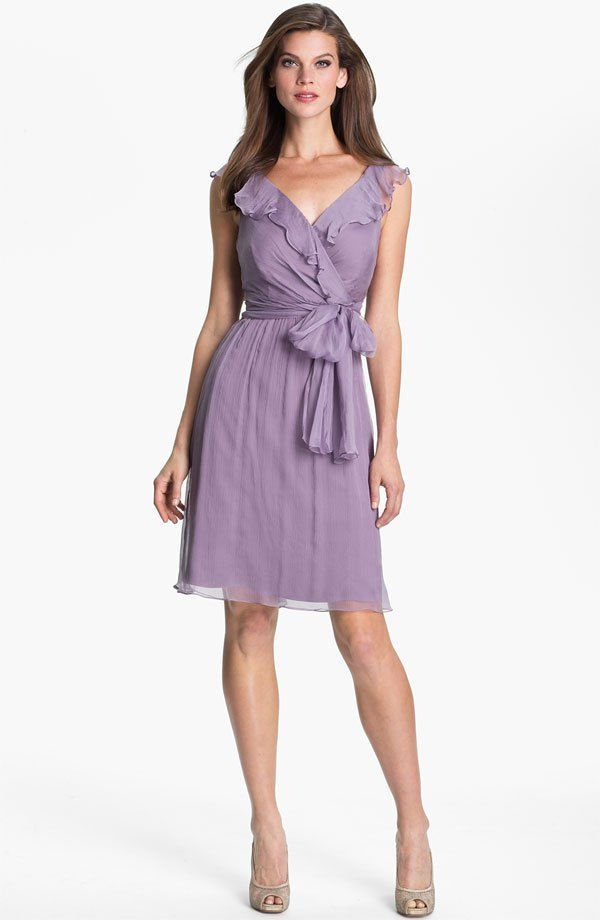Am Ruffle Crinkle Silk Chiffon Dress Available At Nordstrom For Cindy