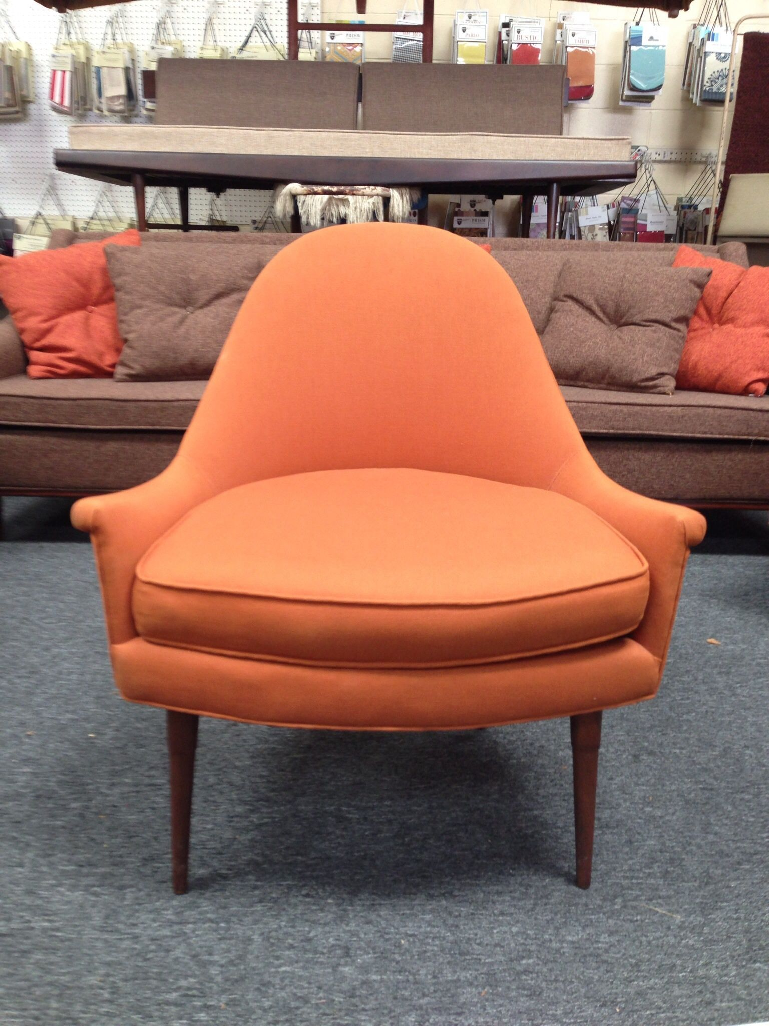 Mid century orange occasional chair | Occasional chairs ...