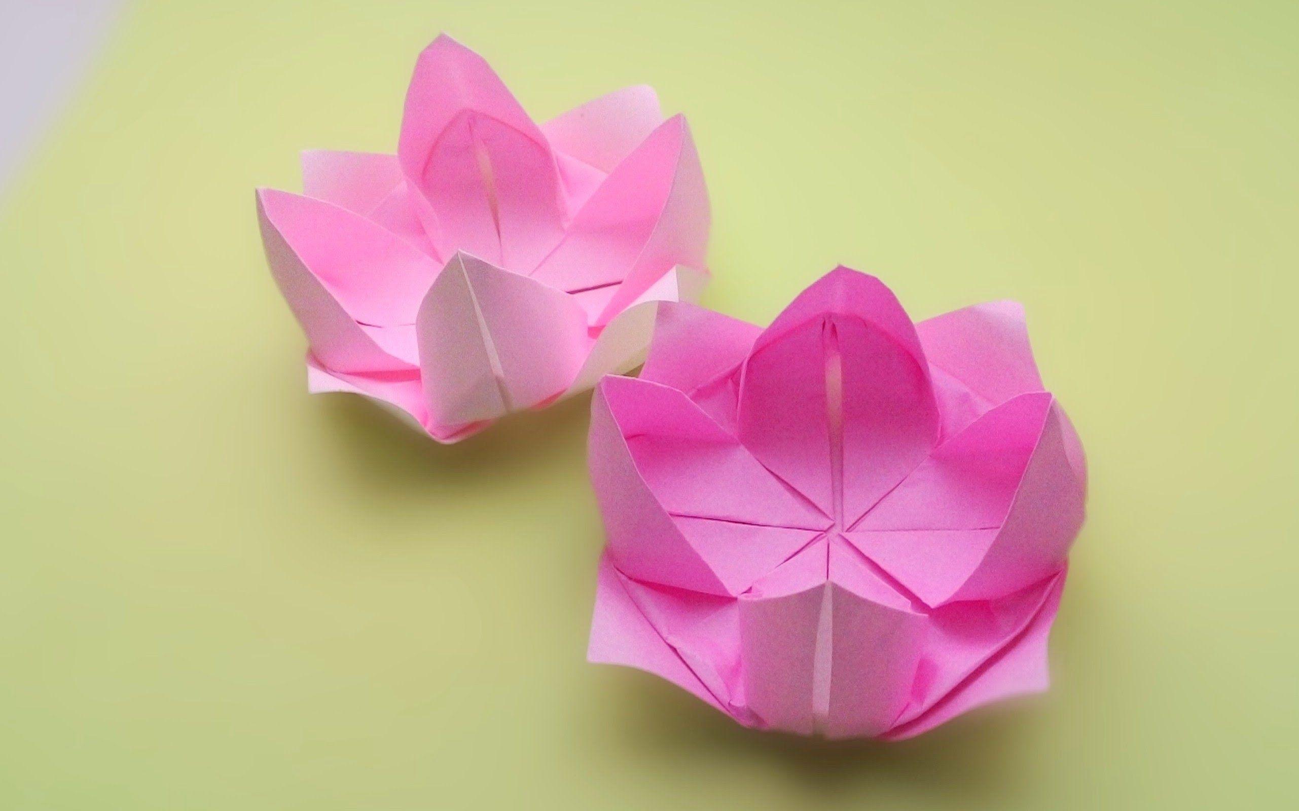 25 Origami Lotus Instructions Origami Origami Videos Paper Crafts