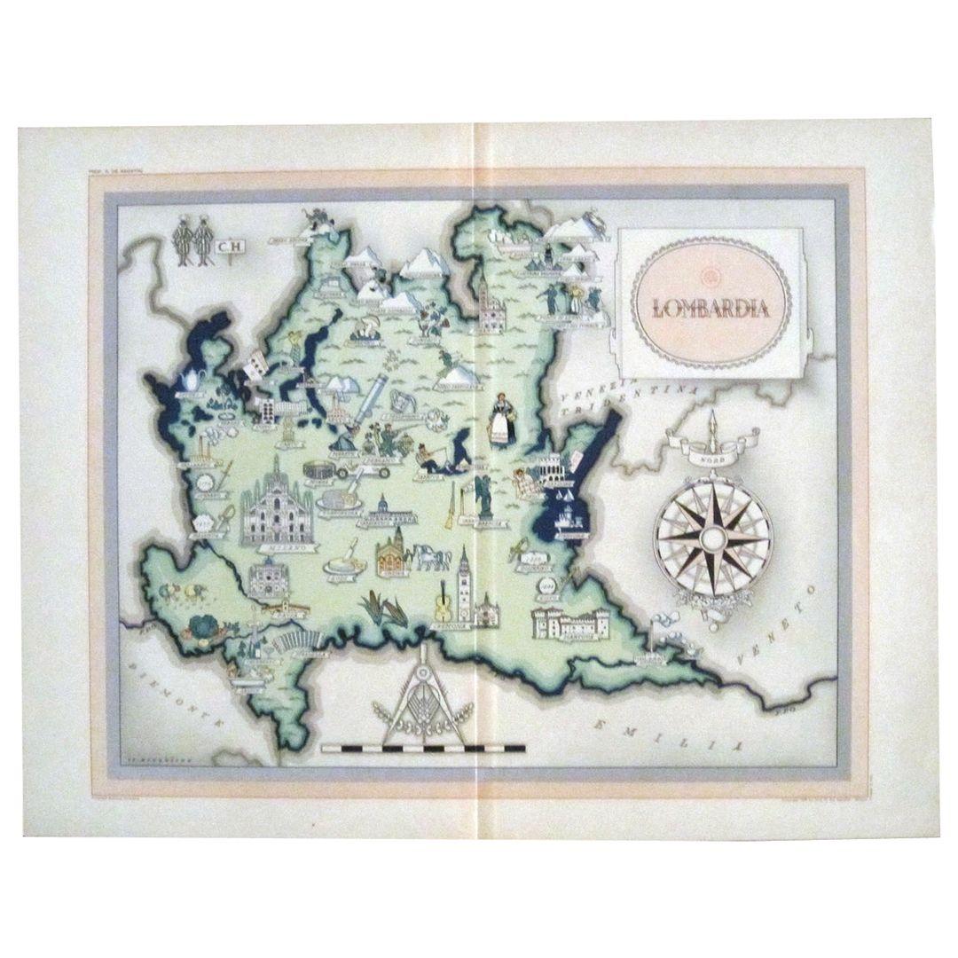 Mappa della Lombardia Cartina della Lombardia La Lombardia
