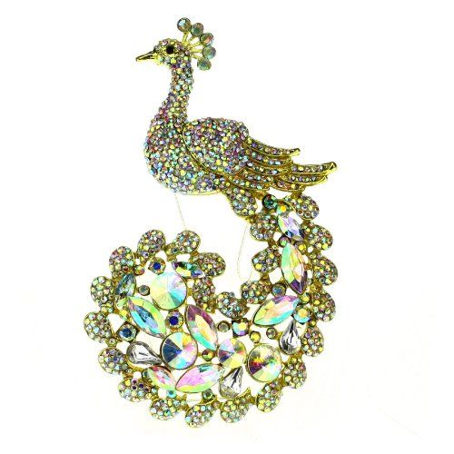 Luxury Peacock Brooch Pin Rhinestone Crystals Suit for Wedding Party (AB Color) Hong Ri jewelry,http://www.amazon.com/dp/B00FXO5HUG/ref=cm_sw_r_pi_dp_4Hmhtb0HEMKD4BXK