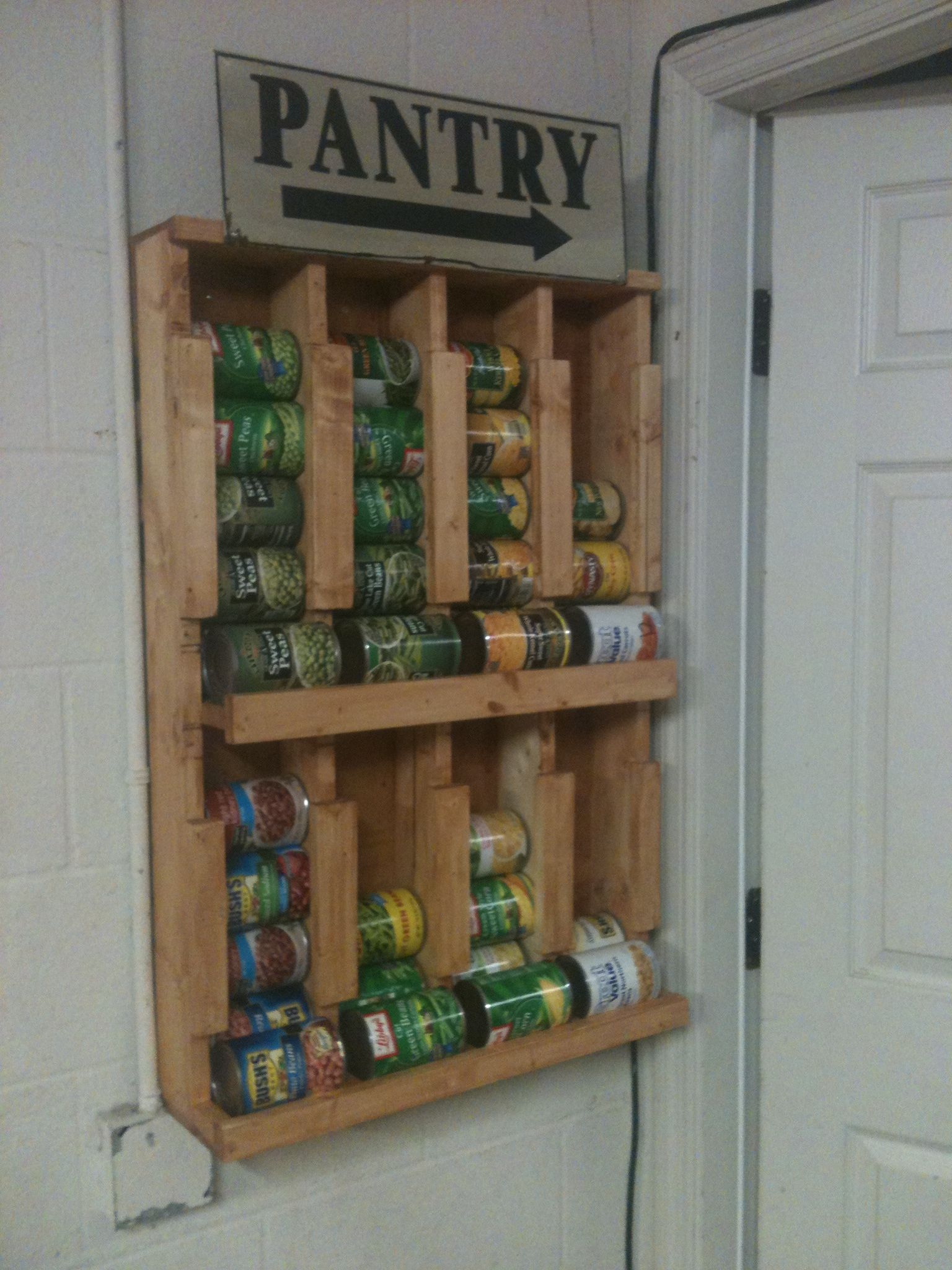 Homemade multiple can dispenser made by my husband  Love this could