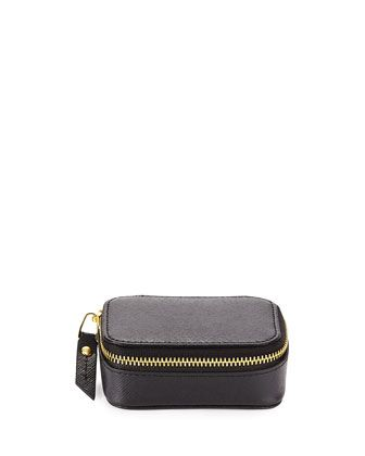 Leather Small Pill Case, Black by Neiman Marcus at Neiman Marcus Last Call.
