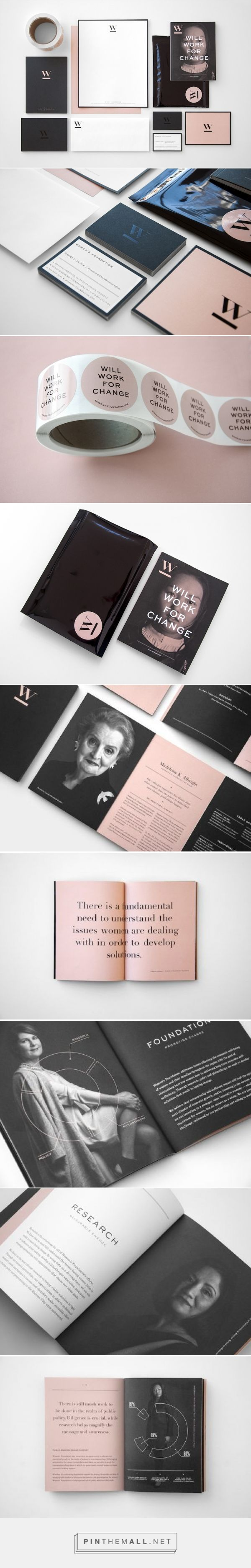 Award-Winning Brand Identity Design: The Women's Foundation - Print Magazine #userexperience